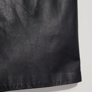 Vintage Skirts - Vintage 80s Rinzi High Waisted Leather Midi Skirt